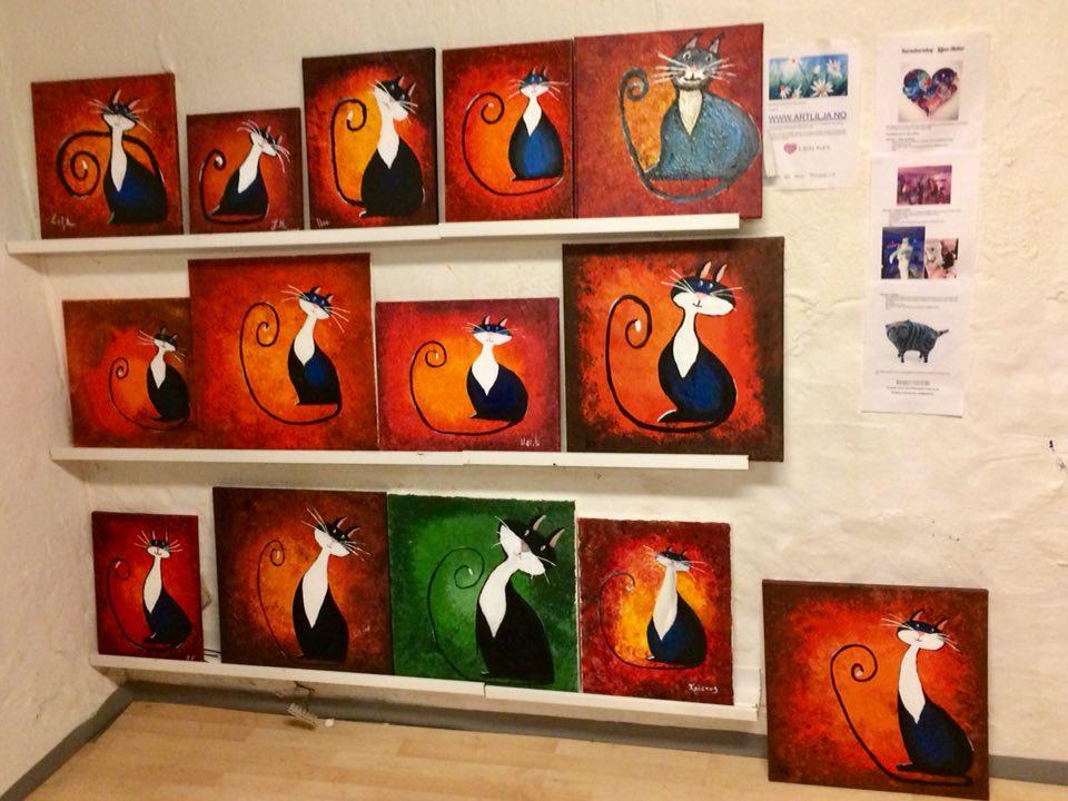Bilder malt på akrylkurs, for nybegynnere: